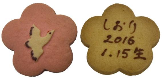 鶴のお祝いクッキーセット【名入れ出産内祝】【結婚お祝菓子・ご長寿お祝菓子】