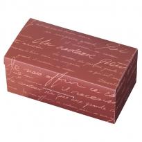 アイテムポストで買える「英字柄ブラウンギフトボックス(リボン付き約5個用」の画像です。価格は100円になります。