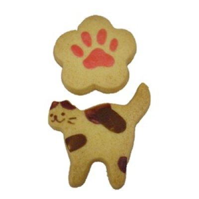 画像1: にゃんこクッキー【ミケちゃん】【ねこクッキー】【動物クッキー】 (1)