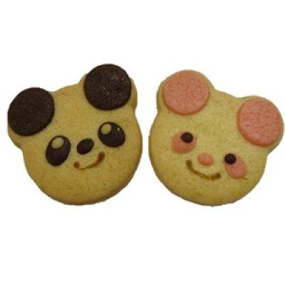 画像1: ツインパンダクッキー【アニマルクッキー】【プチギフト】/c (1)