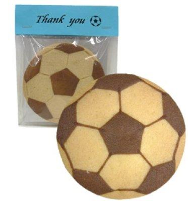 画像1: サッカーボールクッキー(カスタマイズできるヘッダー付) (1)